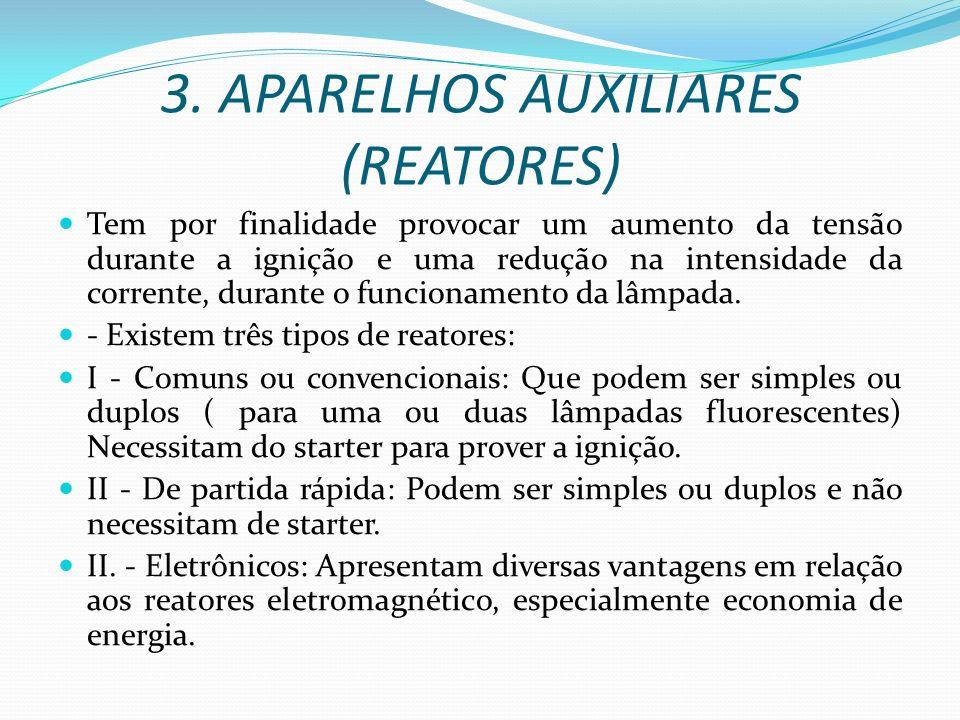 3. APARELHOS AUXILIARES (REATORES)