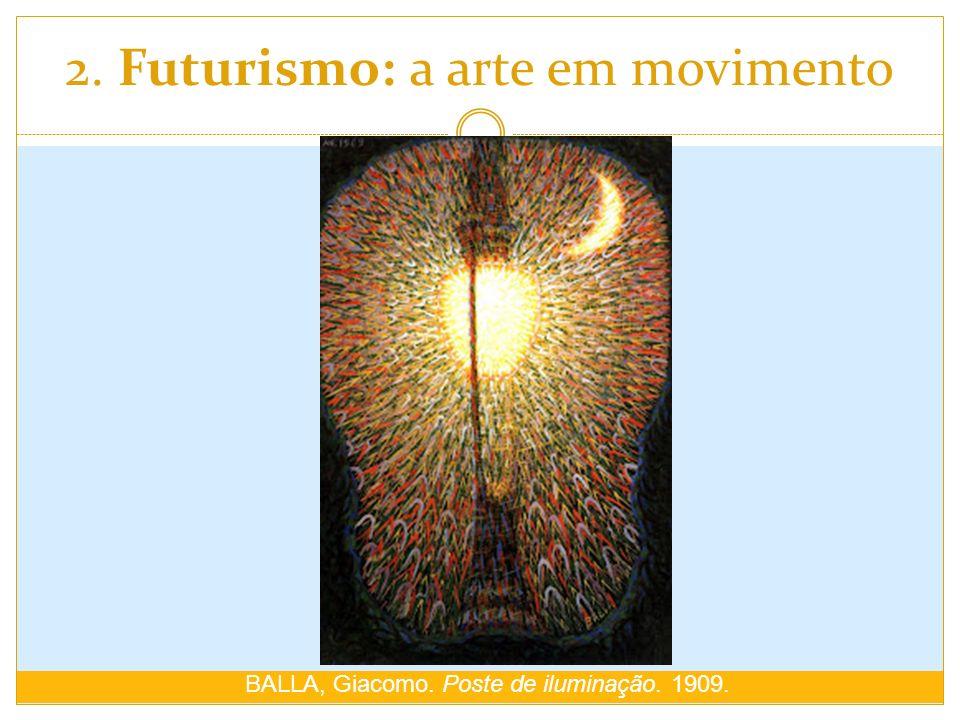 2. Futurismo: a arte em movimento