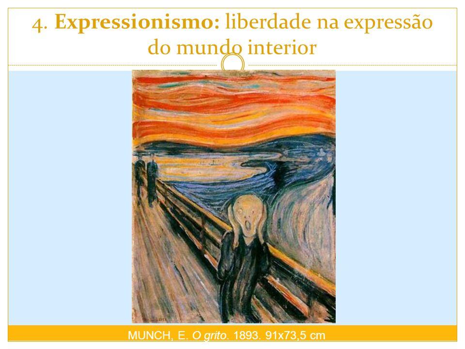 4. Expressionismo: liberdade na expressão do mundo interior