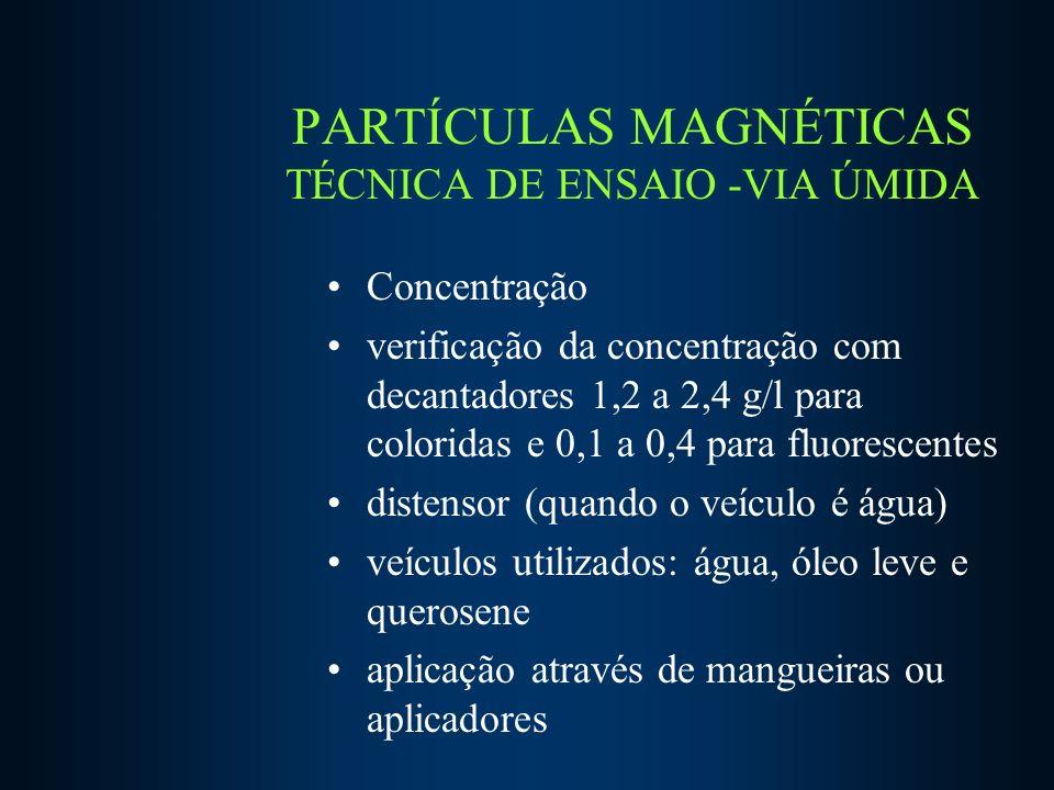 PARTÍCULAS MAGNÉTICAS TÉCNICA DE ENSAIO -VIA ÚMIDA