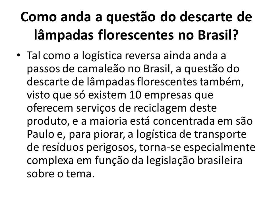 Como anda a questão do descarte de lâmpadas florescentes no Brasil