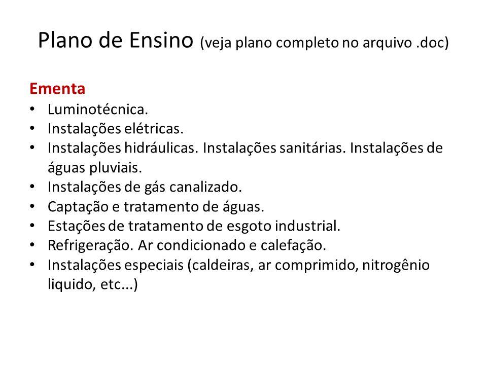 Plano de Ensino (veja plano completo no arquivo .doc)