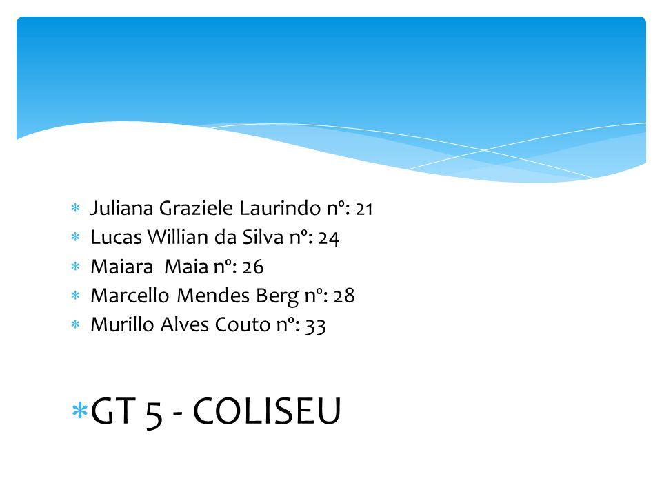 GT 5 - COLISEU Juliana Graziele Laurindo nº: 21