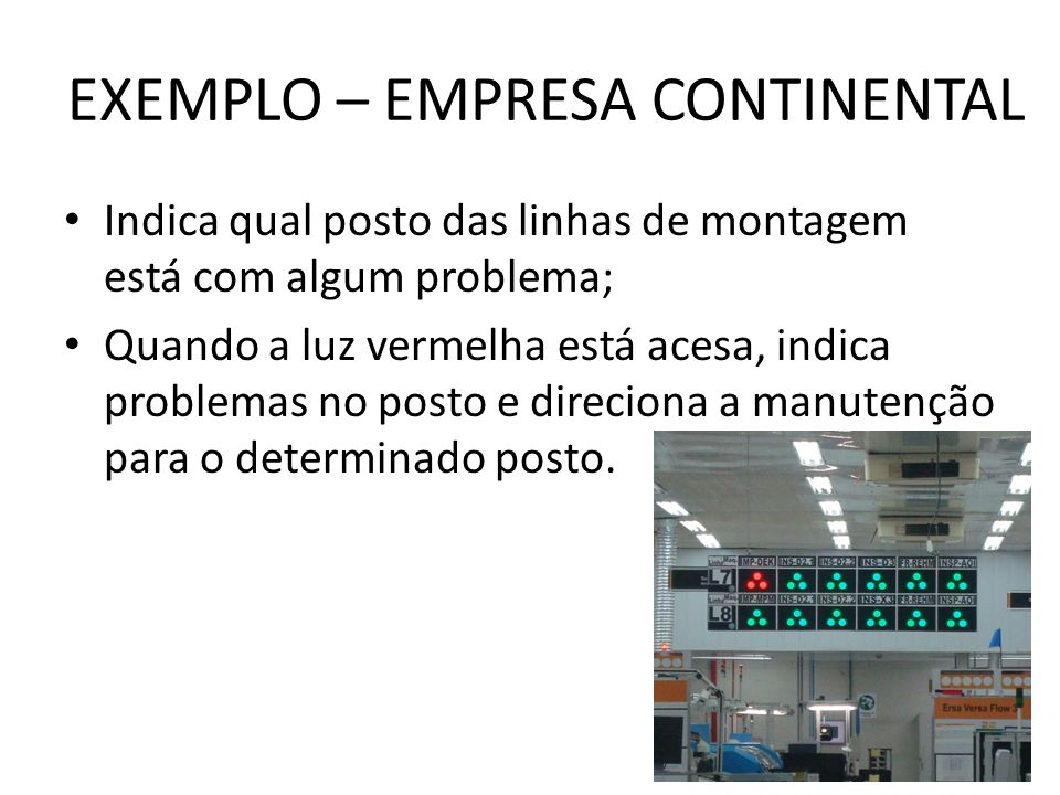 EXEMPLO – EMPRESA CONTINENTAL
