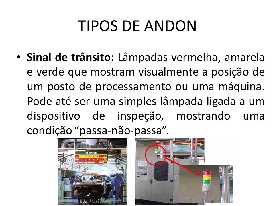 TIPOS DE ANDON