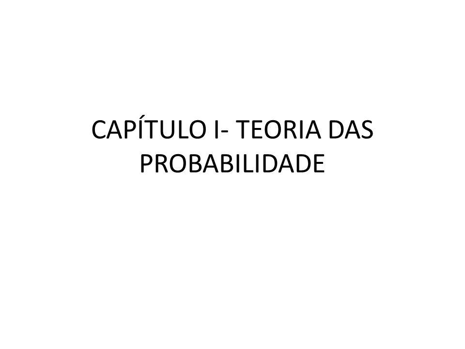 CAPÍTULO I- TEORIA DAS PROBABILIDADE