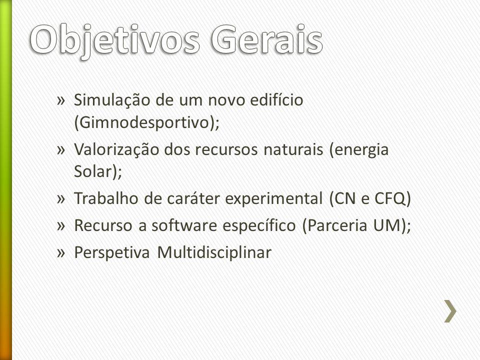 Objetivos Gerais Simulação de um novo edifício (Gimnodesportivo);
