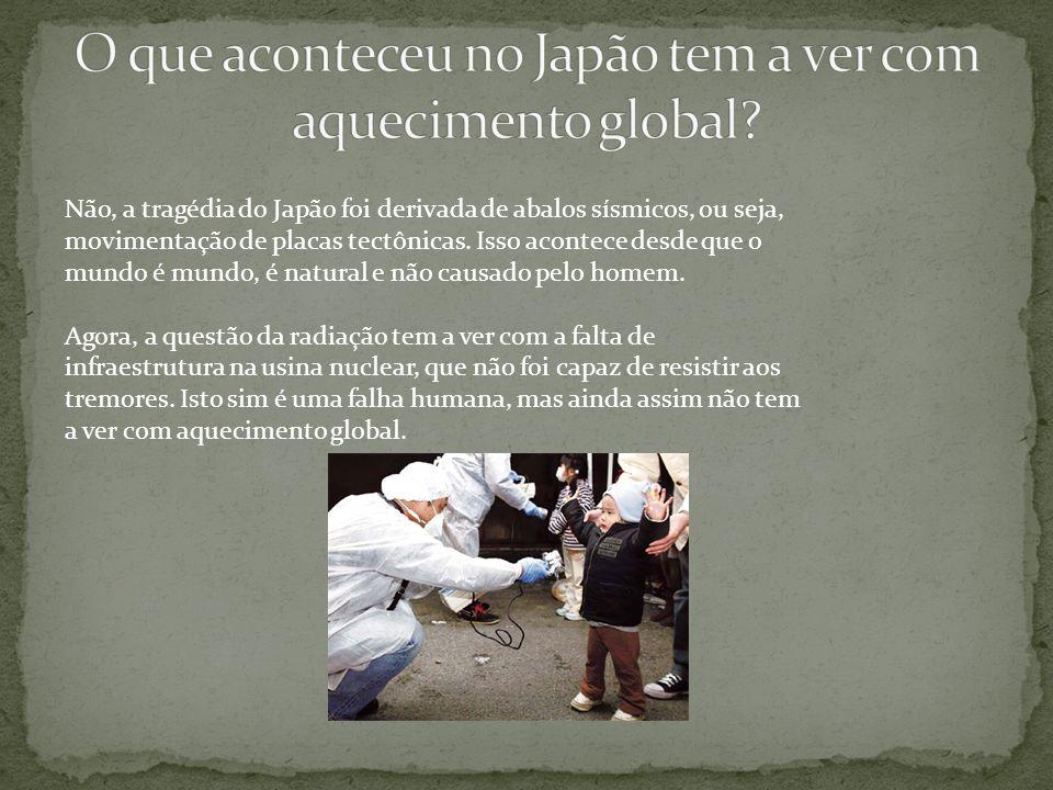 O que aconteceu no Japão tem a ver com aquecimento global