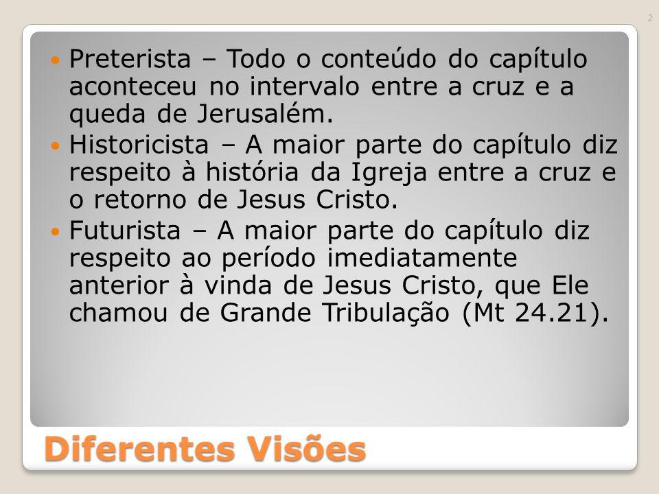 Preterista – Todo o conteúdo do capítulo aconteceu no intervalo entre a cruz e a queda de Jerusalém.