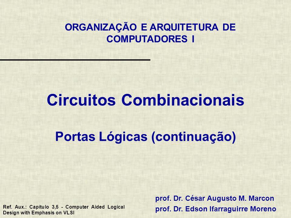 Circuitos Combinacionais Portas Lógicas (continuação)