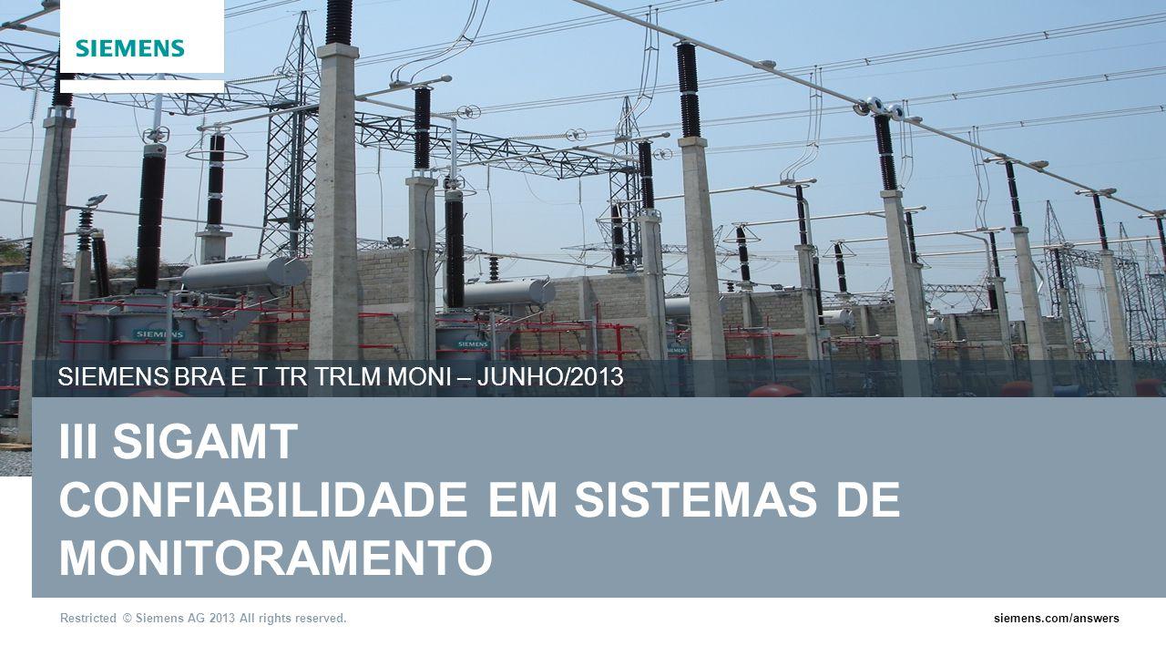 III SIGAMT CONFIABILIDADE EM SISTEMAS DE MONITORAMENTO