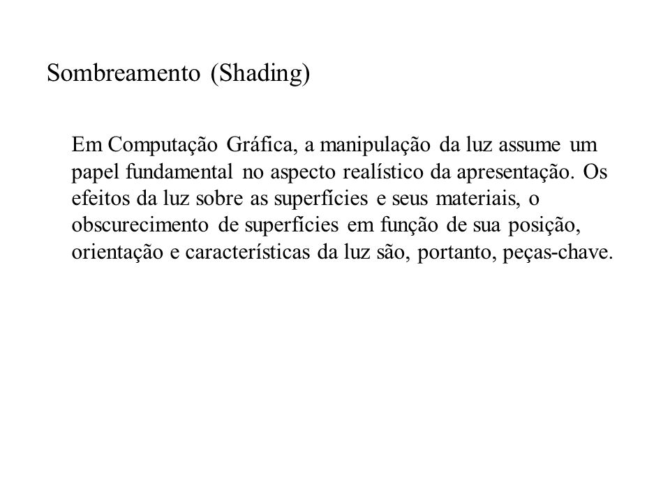 Sombreamento (Shading)