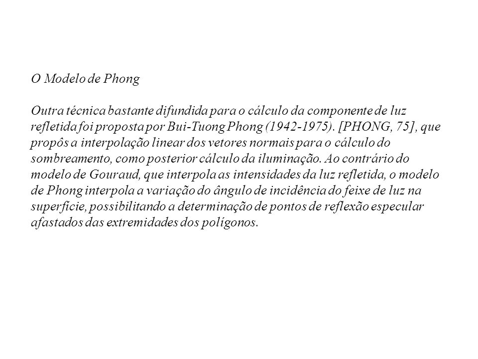 O Modelo de Phong