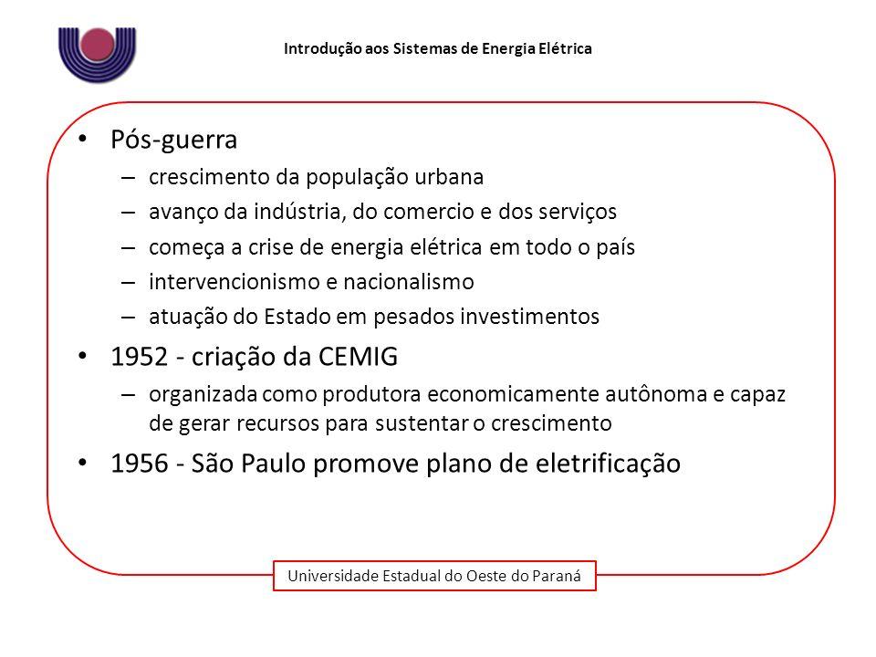 1956 - São Paulo promove plano de eletrificação