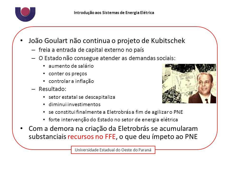 João Goulart não continua o projeto de Kubitschek