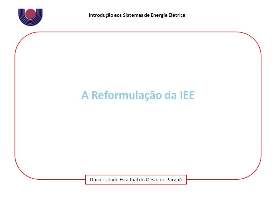 A Reformulação da IEE