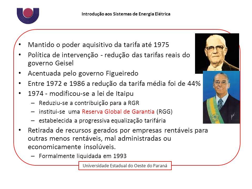 Mantido o poder aquisitivo da tarifa até 1975