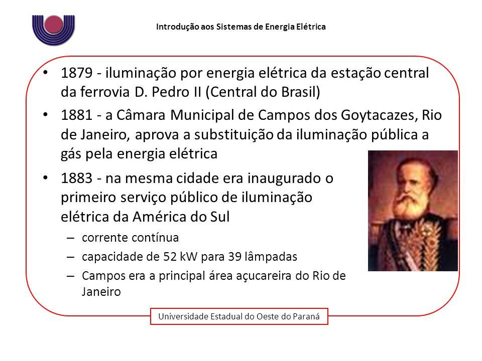 1879 - iluminação por energia elétrica da estação central da ferrovia D. Pedro II (Central do Brasil)