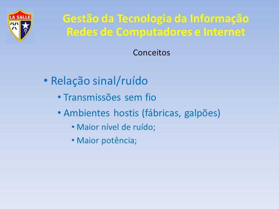 Relação sinal/ruído Transmissões sem fio