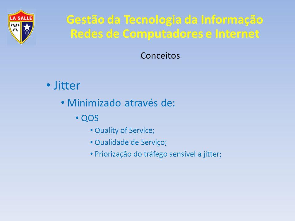 Jitter Minimizado através de: Conceitos QOS Quality of Service;