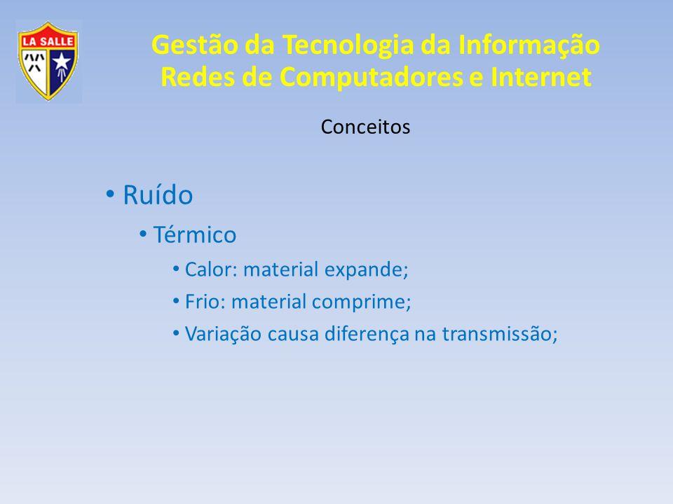 Ruído Térmico Conceitos Calor: material expande;