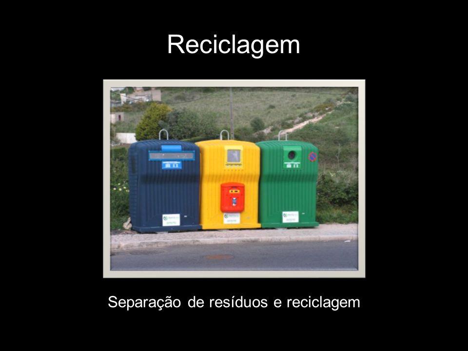 Separação de resíduos e reciclagem