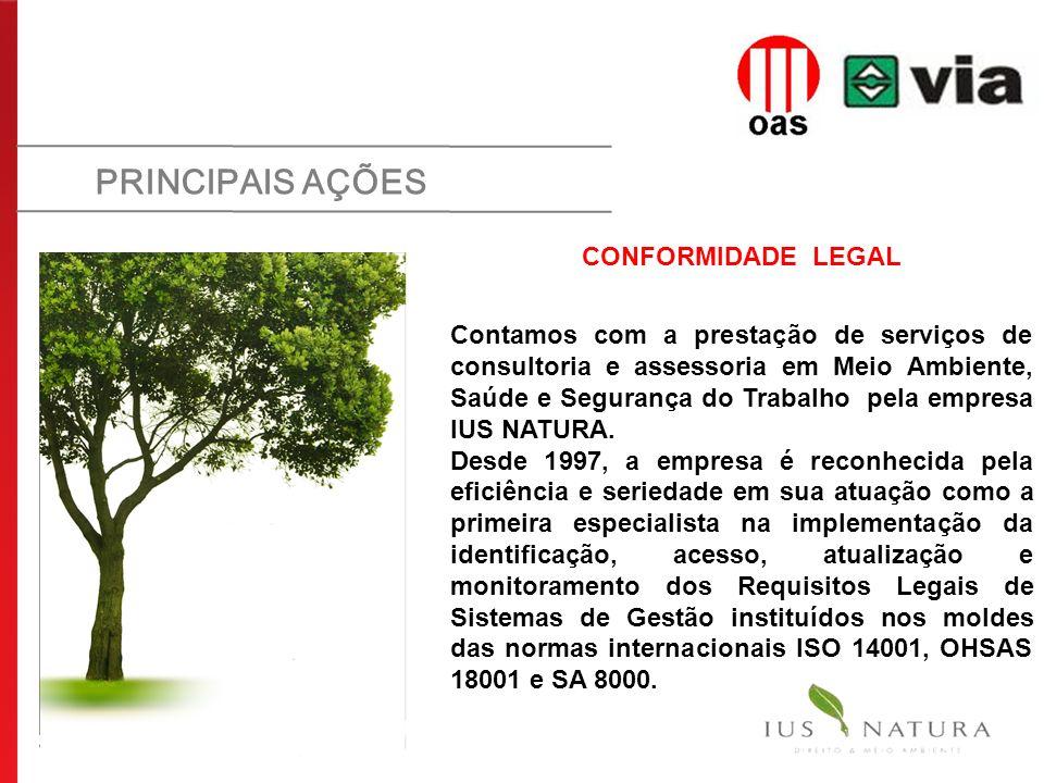 PRINCIPAIS AÇÕES CONFORMIDADE LEGAL