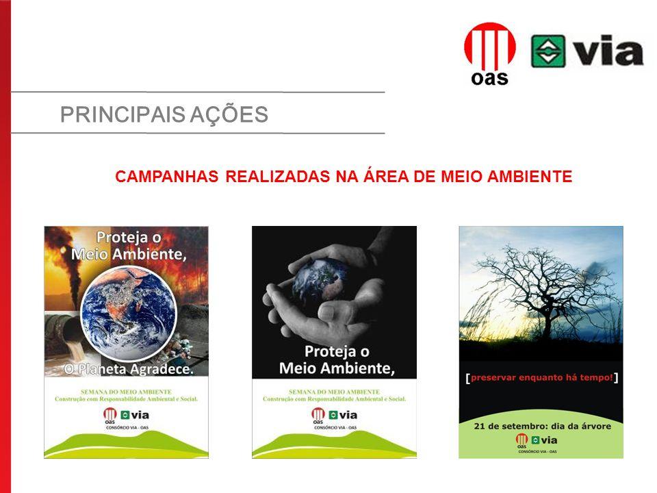 CAMPANHAS REALIZADAS NA ÁREA DE MEIO AMBIENTE