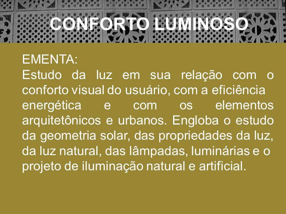 CONFORTO LUMINOSO EMENTA: