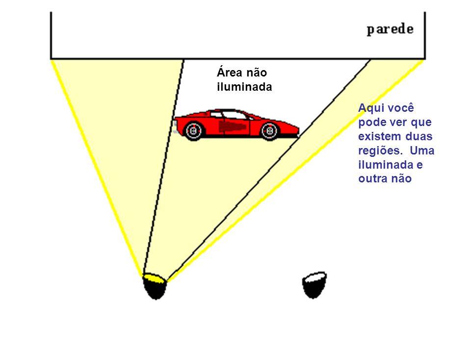 Área não iluminada Aqui você pode ver que existem duas regiões. Uma iluminada e outra não