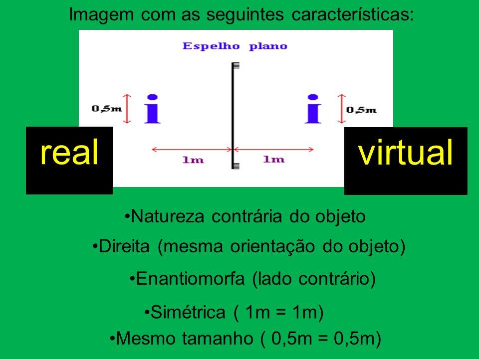 real virtual Imagem com as seguintes características: