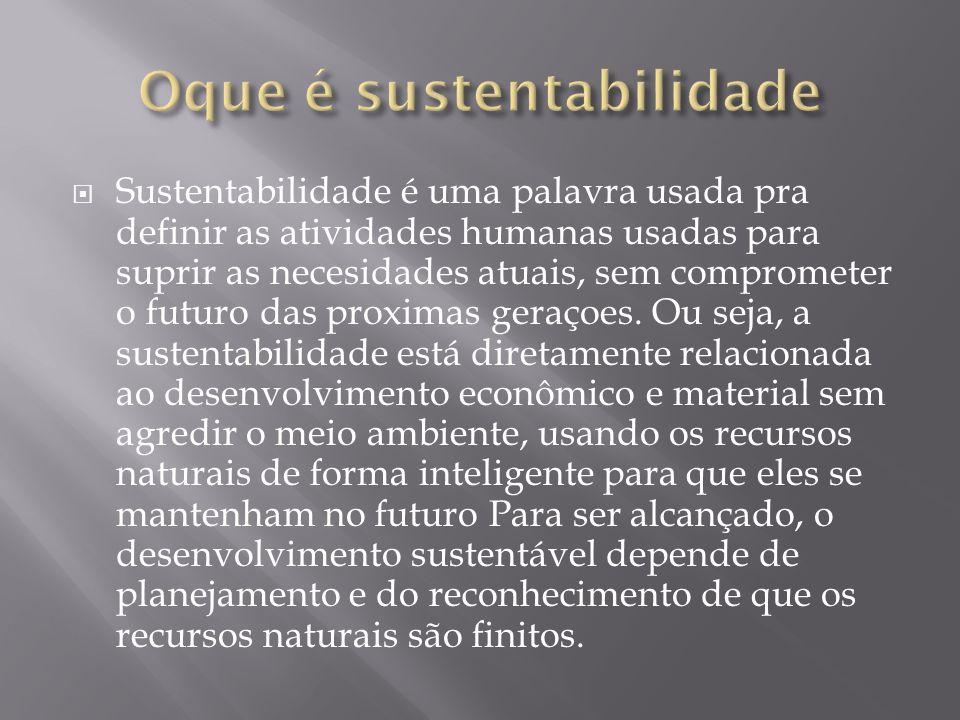 Oque é sustentabilidade
