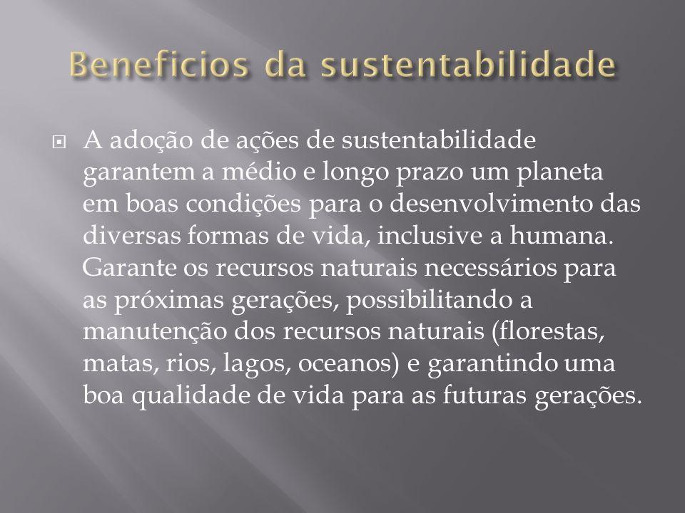 Beneficios da sustentabilidade