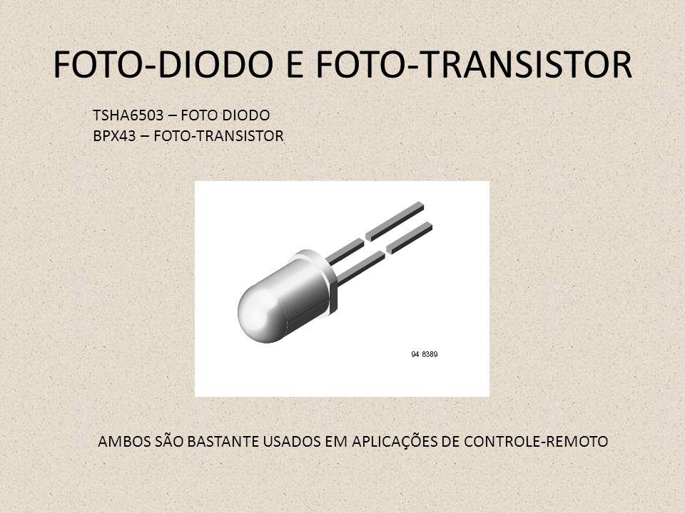 FOTO-DIODO E FOTO-TRANSISTOR