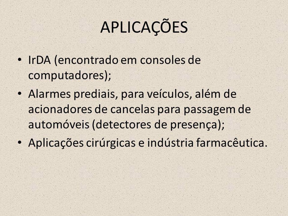 APLICAÇÕES IrDA (encontrado em consoles de computadores);
