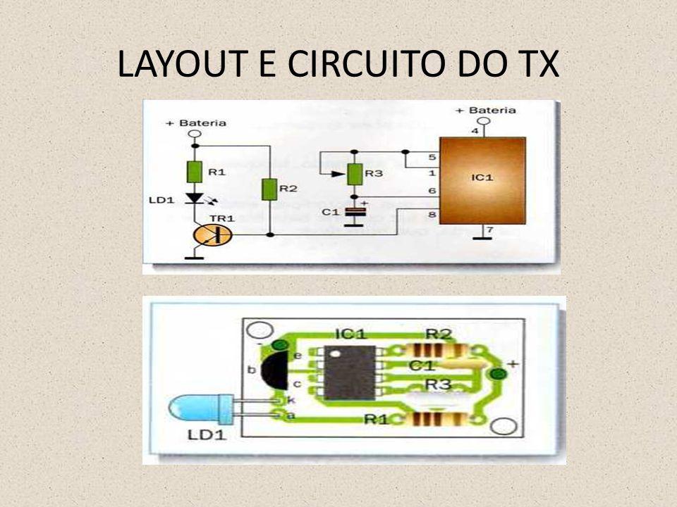 LAYOUT E CIRCUITO DO TX