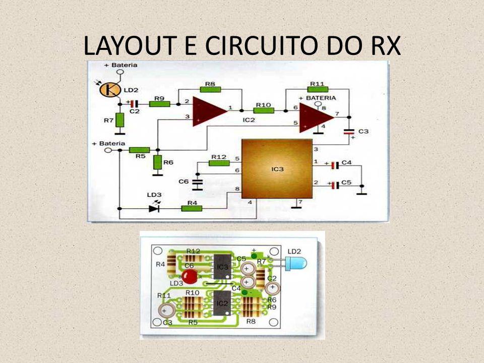 LAYOUT E CIRCUITO DO RX
