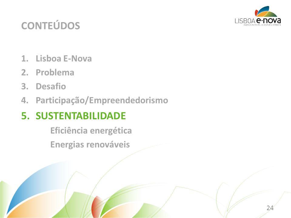 CONTEÚDOS SUSTENTABILIDADE Lisboa E-Nova Problema Desafio