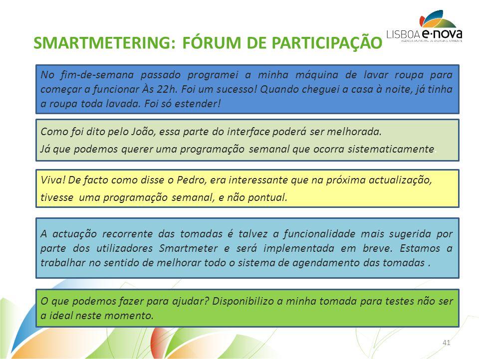 SMARTMETERING: FÓRUM DE PARTICIPAÇÃO