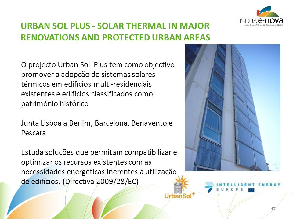 Urban Sol Plus - Solar Thermal in Major