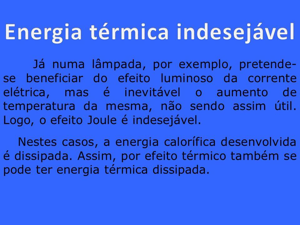 Energia térmica indesejável