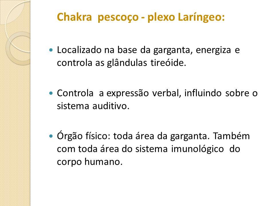 Chakra pescoço - plexo Laríngeo: