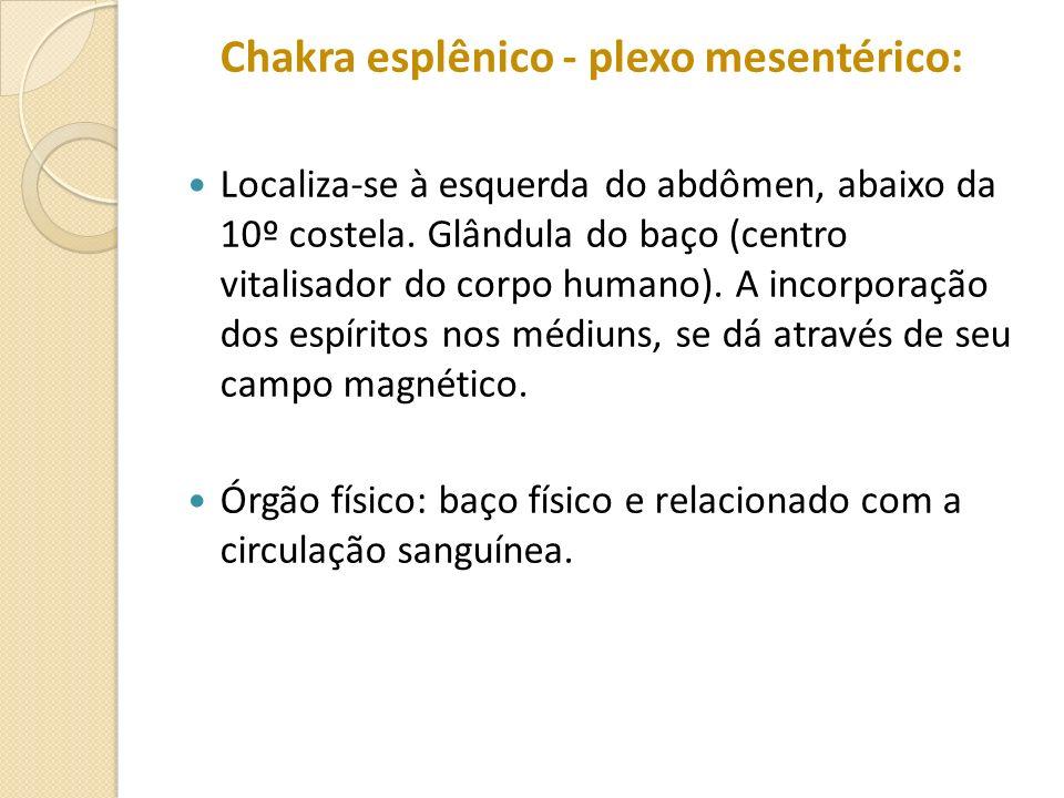 Chakra esplênico - plexo mesentérico: