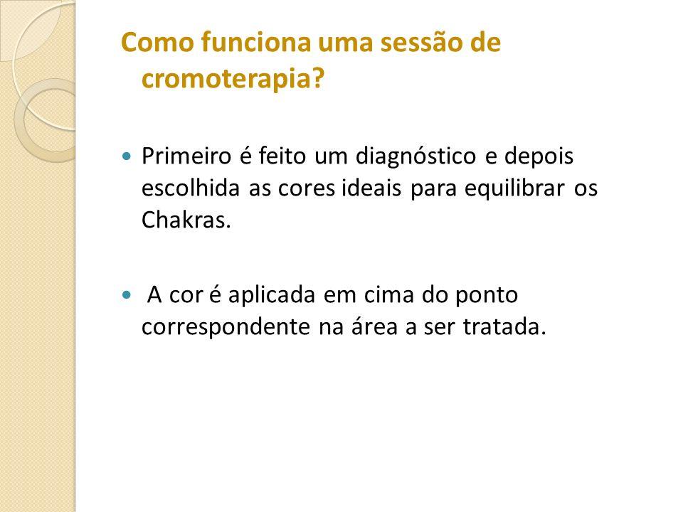 Como funciona uma sessão de cromoterapia