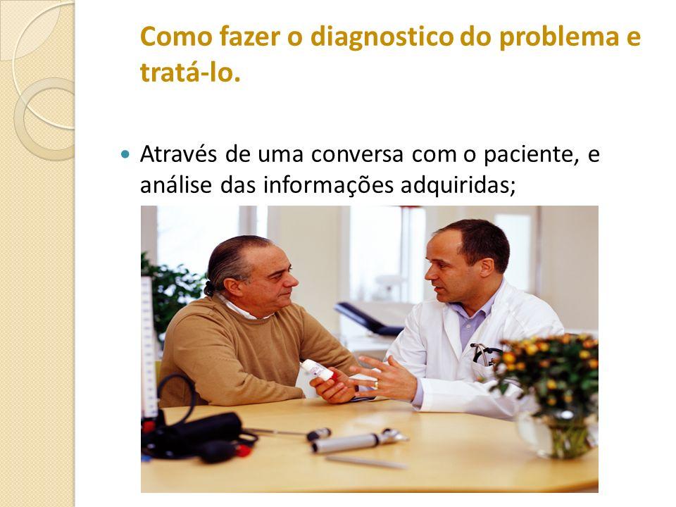 Como fazer o diagnostico do problema e tratá-lo.