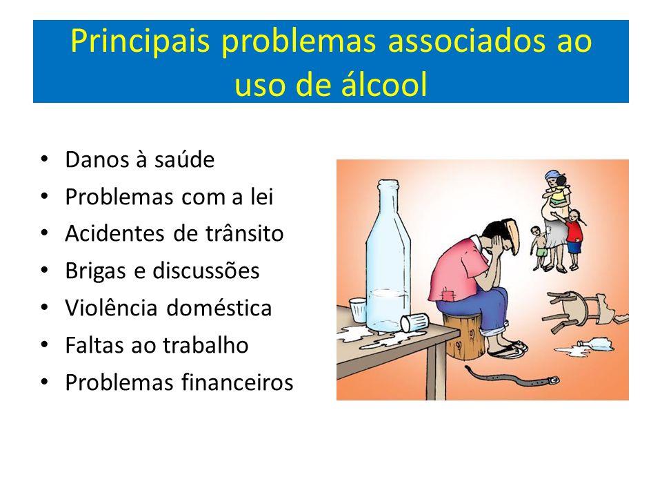 Principais problemas associados ao uso de álcool
