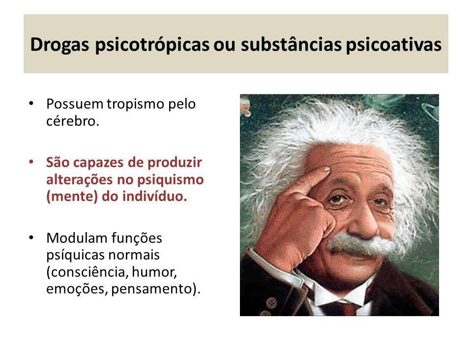 Drogas psicotrópicas ou substâncias psicoativas