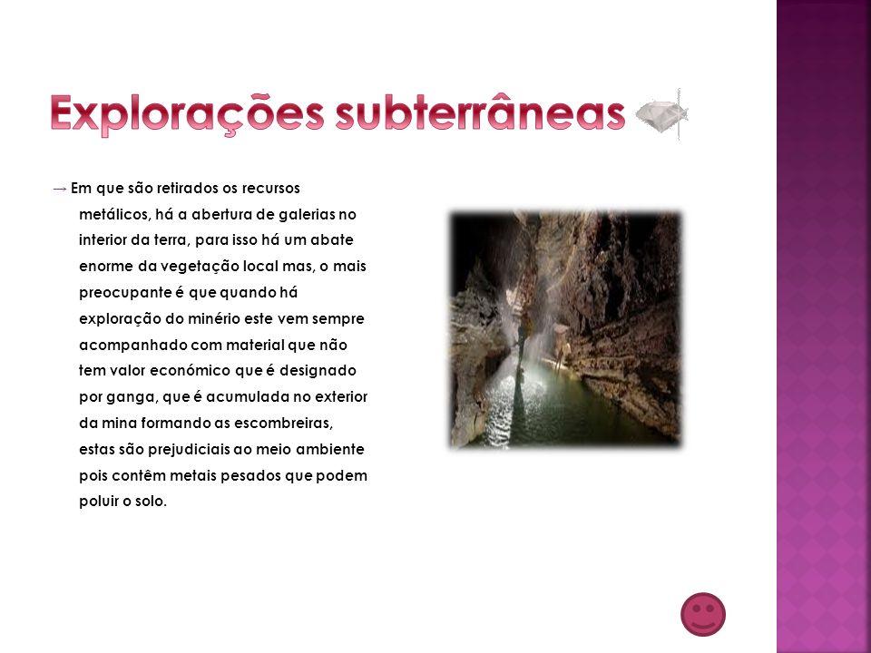 Explorações subterrâneas