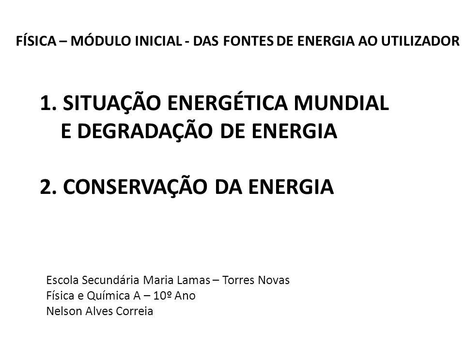 FÍSICA – MÓDULO INICIAL - DAS FONTES DE ENERGIA AO UTILIZADOR