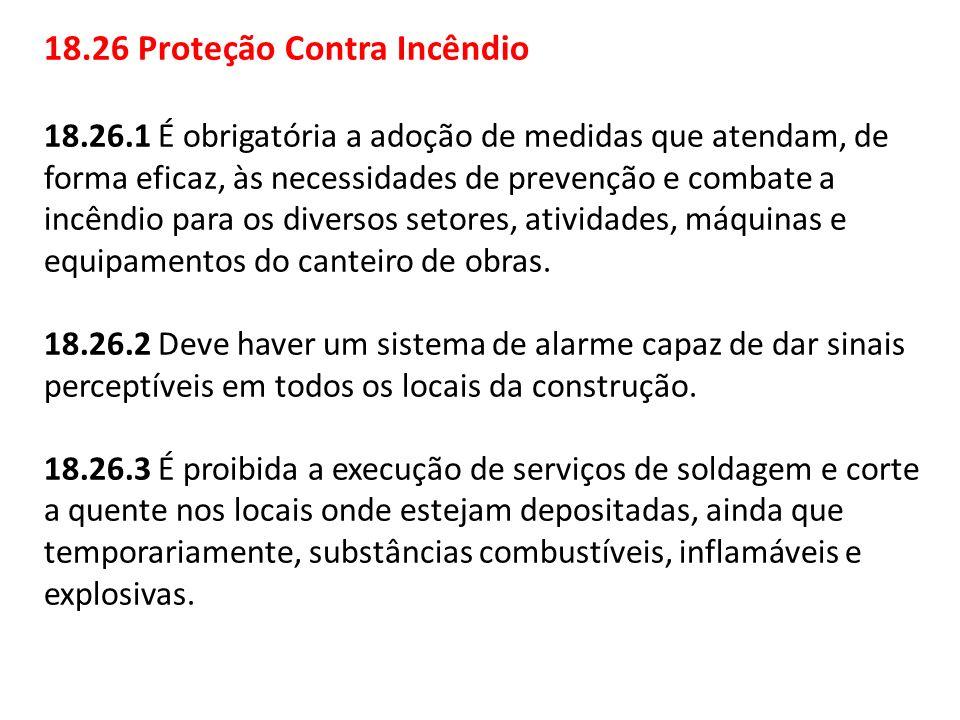 18.26 Proteção Contra Incêndio